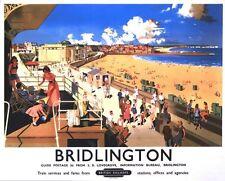 Poster Vintage British Rail Bridlington Yorkshire A3/A2/A1 impresión