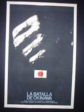 BATTLE OF OKINAWA Original 1972 CUBAN Silk-screen Poster for Japanese Movie CUBA