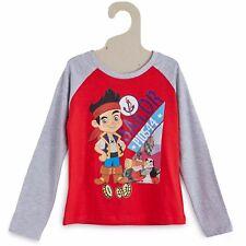 DISNEY t-shirt 3 4 5 ou 6 ans JAKE ET LES PIRATES manches longues rouge gris