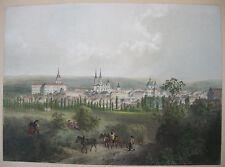 Boemia Kromeriz REPUBBLICA CECA ORIG litografia agosto Haun 1860 zlinsky Kraj