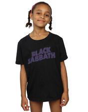 Black Sabbath Fille Distressed Logo T-Shirt