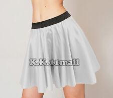 Silver  Satin Mini Short Skirt For Sexy Dress Party Wear Skirt Sexy Mini Skirt