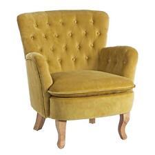 poltrona imbottito tessuto velluto gialla design vintage  divanetto poltrone