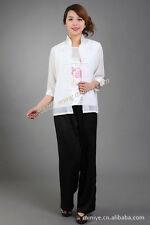2017 new fashion Chinese Women's  silk satin  jacket/Coat and vest size:M-3XL