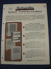 1950's Heater Catalog Ohio Foundry & Mfg. ASBESTOS Brilliant Fire