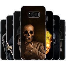 dessana Totenköpfe TPU Silikon Schutz Hülle Case Handy Tasche Cover für Samsung