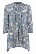 Roman Blue Mix Paisley Long Tunic Kaftan Top Blouse (NEW )Sizes 10 & 12 £25.00