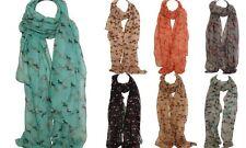 Elegante Estampado Caballo Bufandas Chal Chal Envolvente Sarong