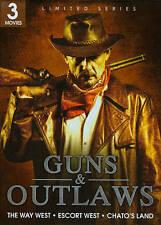 Guns  Outlaws: The Way West/Escort West/Chatos Land (DVD, 2011) Brand New