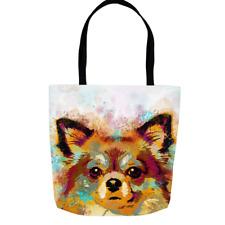 Tote bag, Dog Tote bag, All-over print, Dog 141 Chihuahua art LDumas