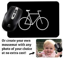 Black BMX Computer Mousemat Mouse Mat Pad Stickman Bike Novelty Gift Mens Si20