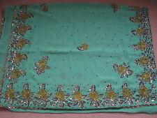 Brand New With Tag Green Shimmer  Saree Sari Kameez Material.