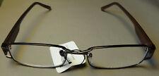 Thin Rectangular Metal Frame Black Stems Bronze Frame Reading Glasses Clear Lens