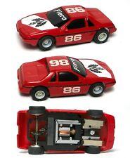 1985 TYCO HP7 HP-7 Curvehugger Red Pontiac Fiero #86 Car Slot Car Unused 6970
