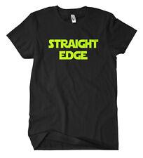 Straight Edge T-shirt vegetariano bio in alternativa vegano benessere degli animali drug free fun