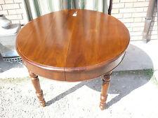 Tavolo in NOCE da sala pranzo allungabile rotondo 108 cm tondo restaurato 200 cm
