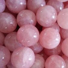 Natural Healing Crystal Natural Pink Rose Quartz Gemstone Ball Divination'Sphere