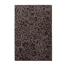 Tapis moderne Cosmo Flowers - Couleur sélectionnable: Ivoire, brun foncé ou gris