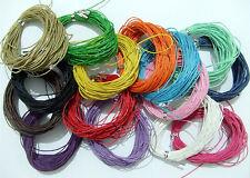 10mt filo in cotone cerato 1mm vari colori bijoux