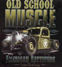 T-Shirt #575 OLD SCHOOL MUSCLE , HOT ROD V8 Hot Rod Rockabilly 50er US-Car