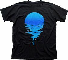 Moon Rise Set Sonne Sonnenuntergang Space Meer Lang & Kurzarm T-Shirt schwarz fn9327