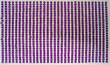 800 STRASS ADESIVI COLORE VIOLA 3 mm  CORPO UNGHIE NAILART DECORAZIONI