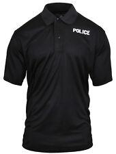 Tactical Black Police Polo Shirt Performance Breathable Rothco 3282