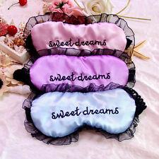 Cute Lace Sleeping Eye Mask Blindfold Shade Travel Sleep Aid Cover Light GuideHU