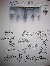 Pirates of the Caribbean 3 Signed Script X17 Johnny Depp Keira Knightley reprint