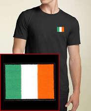 Ireland Flag EMBROIDERED Black T-Shirt  Irish *NEW*