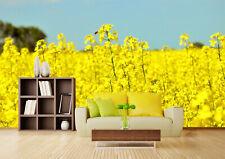 3D Fleur Jaune 04  Photo Papier Peint en Autocollant Murale Plafond Chambre Art