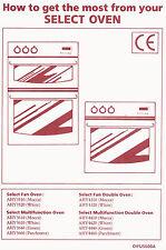 Diplomat Select Oven User Instructions Manual AHY3510,AHY4410,AHY4310,AHY3610