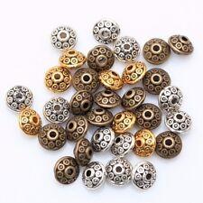 20 / 50 / 100x Metall Perlen Rondelle - Tibet Hippie Schmuck Basteln Spacer DIY