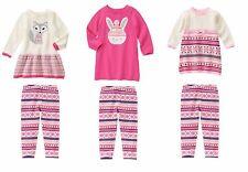 NWT Gymboree Fair Isle Flurry Bunny Fox Sweater Dress Leggings Outfit Girl 4T 5T