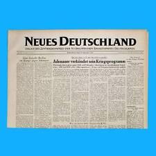 DDR Neues Deutschland Dezember 1953 Geburtstag Hochzeit 63. 64. 65. 66. 67. PB