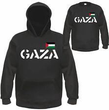 Gaza Sweatshirt ou Hoodie-Noir-Palestine Non à la Palestine westjordan Pull