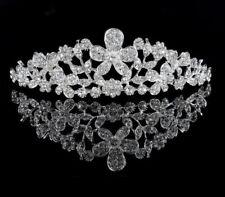 ElegantTiara with Rhinestones or White Foux Pearl  Headband for Wedding