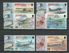 FLUGZEUGE/ Jersey MiNr 1062/67 **
