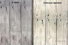 3D VINTAGE WORN GREY WOOD WALLPAPER PVC VINYL COUNTRY OLD BROWN FEATURE WALL UK