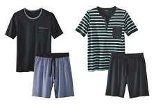 Livergy® Herren Shorty Pyjama Schlafanzug 2-Teiler Kurze Hose + Kurzarm Shirt