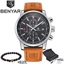 BENYAR Watches Men Luxury Chronograph Wristwatch Sport Gifts For Him Dad Father