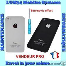 vitre arrière de remplacement iPhone 4/4S noir ou blanc