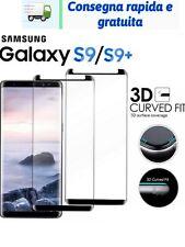 Pellicola Vetro Temperato Samsung GALAXY S9 / S9+ Protezione Completa 3D CURVO