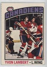 1976-77 O-Pee-Chee #232 Yvon Lambert Montreal Canadiens Hockey Card