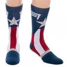 Captain America Suit Up Costume Marvel Comics Adult Crew Socks