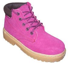 Leder Boots Wanderschuhe Stiefel Schuhe pink schwarz 36 37 38 39 40 41 NEU
