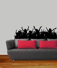 Party People Vinilo Arte Pared sticker/decal/mural clubbing/rave/festival / Bailando