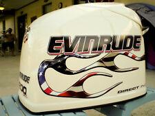 Evinrude V6 Direct Injection  USA Flag Flame Decal Kit