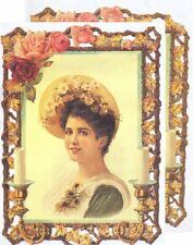 Chromo EF Découpis Tableau Femme 7074 Embossed Illustrations Lady
