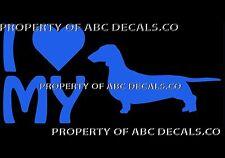 Vrs Liebe My Dog Dackel Wiener Herz Welpe Adoption Auto Aufkleber Vinyl Sticker